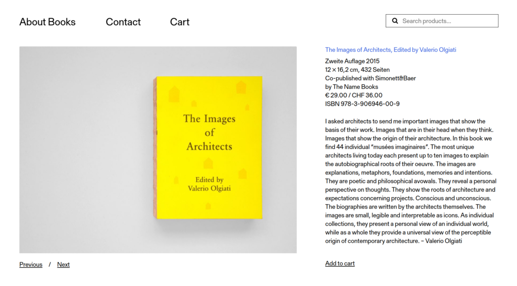 Einzelansicht von The Images of Architects auf aboutbooks.ch